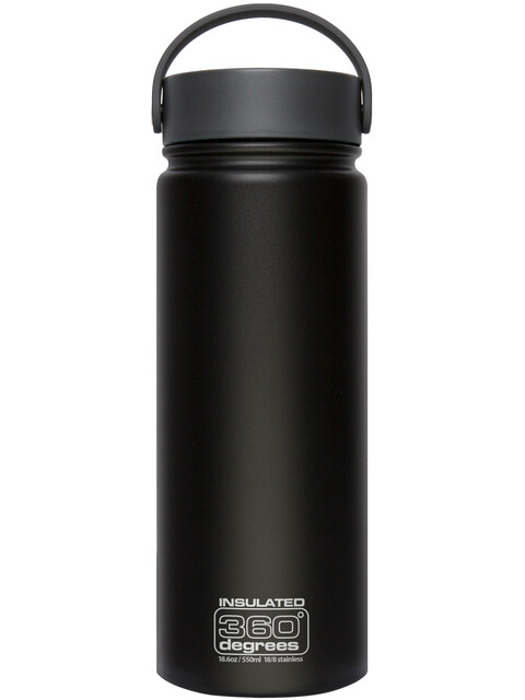 360° degrees Wide Mouth Insul - Gourde - 550ml noir